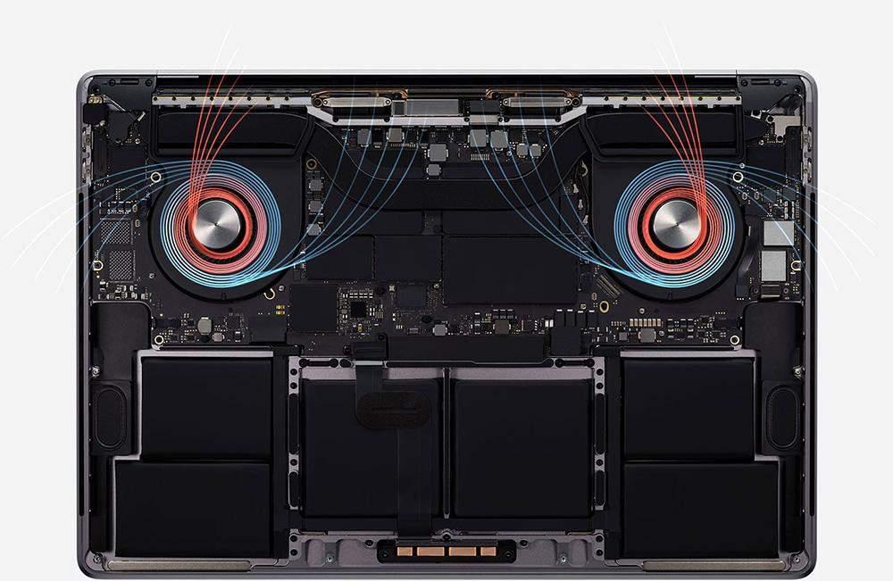 MacBook Pro 16 cooling